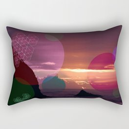 Colorful Sunset on the Beach Rectangular Pillow