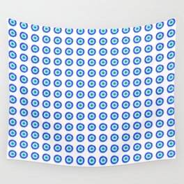 Pixel Evil Eye Pattern Wall Tapestry