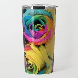 Beautiful Color Roses in Bloom Travel Mug