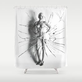 ''Big Nude I'' Shower Curtain