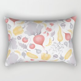 Vegetables (pastel) Rectangular Pillow