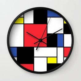 De Stijl Neoplastic Art Wall Clock