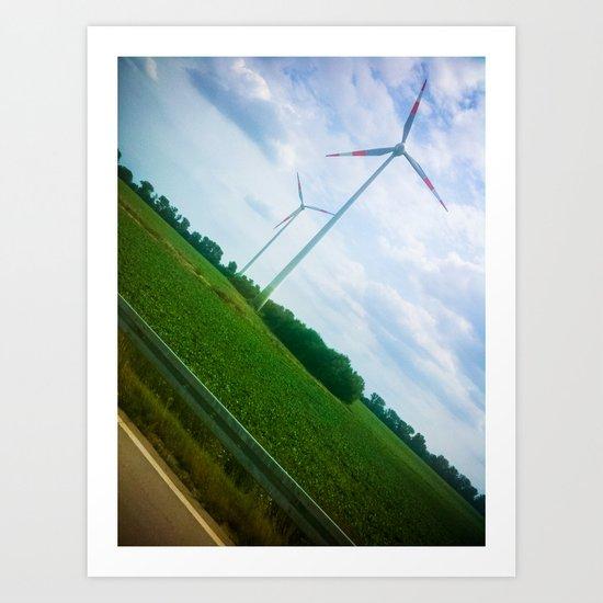 Wind Energy  Art Print