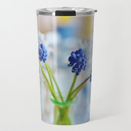 Blue and white spring lily Travel Mug