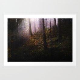 Travelling darkness Art Print