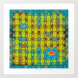 DMT Spaceinvaders Art Print