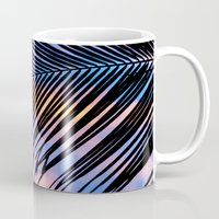 jem Mugs featuring SUNSET PALM by Catspaws