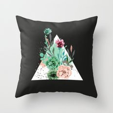 Suculetas Zen Throw Pillow