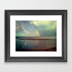 Rainbow Over Sea Framed Art Print