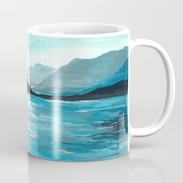 Lake Como, Seascape Original Painting Coffee Mug