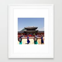 korea Framed Art Prints featuring Seoul, Korea  by Kia Noelle