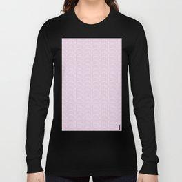 Art Deco Lavender Fields by Friztin Long Sleeve T-shirt