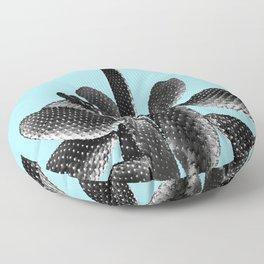 Black Light Blue Cactus #1 #plant #decor #art #society6 Floor Pillow