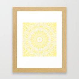 Lemon Yellow Kaleidoscope Framed Art Print