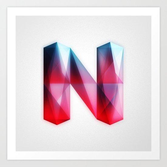 The Letter N Art Print