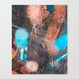 Lonely Taxi Canvas Print