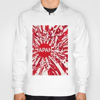 japan Hoodies featuring Japan by Danny Ivan