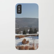 Winter Snow Scene Landscape Photo iPhone X Slim Case