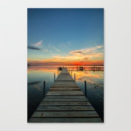 Dock at Lake Monona Canvas Print