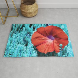 Color edited Morning Glory Rug