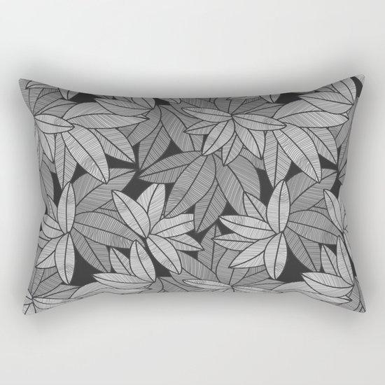 Black & White Leaves By Everett Co Rectangular Pillow