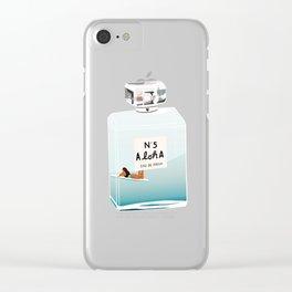 No.5 Aloha, hawaii art, aloha art, summer art, perfume art Clear iPhone Case