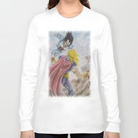 vegeta Long Sleeve T-shirts featuring Vegeta V Thor by Kame Nico