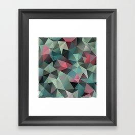 Polygon pattern 8 Framed Art Print