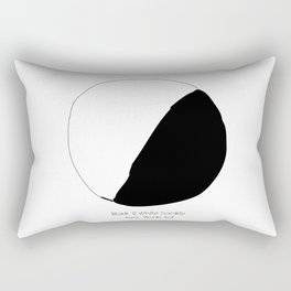Black and White Cookie New York Rectangular Pillow