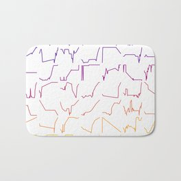 Fish tracks Bath Mat