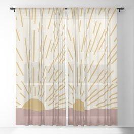 Golden Sunrise Sheer Curtain