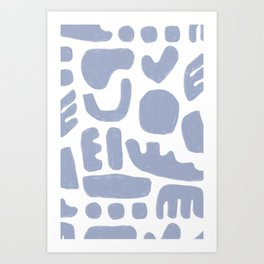 Rock Collection Periwinkle Art Print