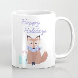 Cute Fox Happy Holidays Merry Christmas Gift Coffee Mug
