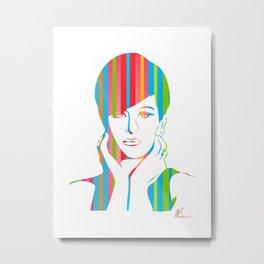 Barbra Streisand | Pop Art Metal Print