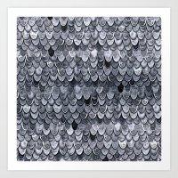 MAGIC MERMAID CLASSIC GREY by Monika Strigel Art Print
