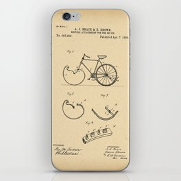 1896 Patent Bicycle attachment for use on ice iPhone Skin