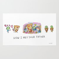 how i met your mother Area & Throw Rugs featuring How I Met Your Father by mariorigami