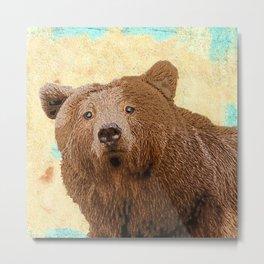 Papa Bear Baby Pop ART Metal Print