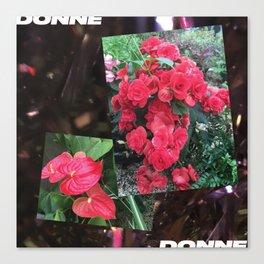 Donne Flowers Canvas Print