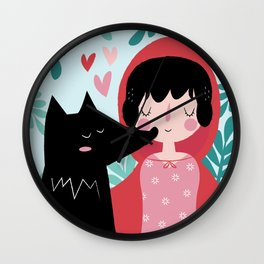 Red Riding Hood and the Wolf Wall Clock
