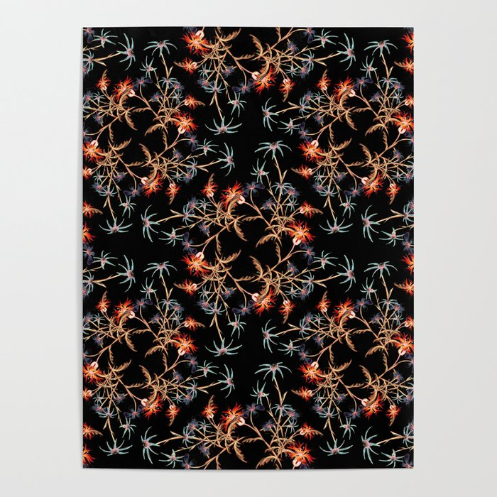 Wildflower Pattern I Poster