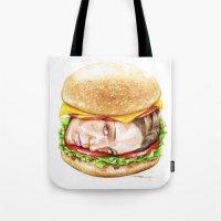 burger Tote Bags featuring Burger by Creadoorm