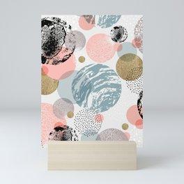 Circles texture Mini Art Print