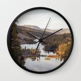 Looking Down at Twin Lakes Wall Clock
