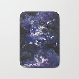 galaxy in blue Bath Mat