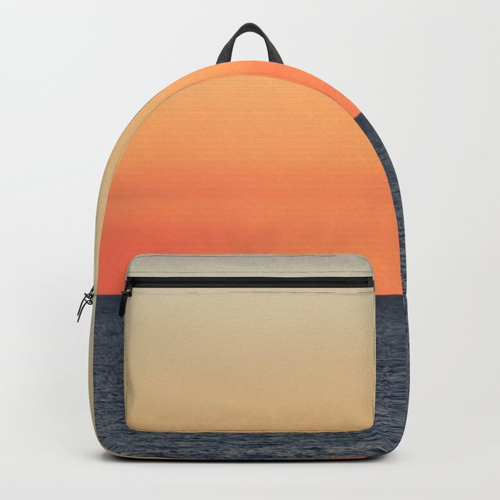 Setting Sun on the Open Sea Backpack