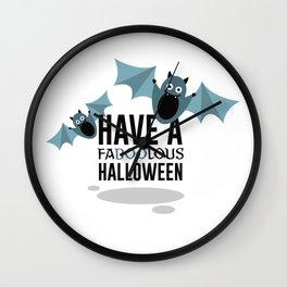 Boo Bats Halloween Design Wall Clock