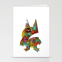 monster Stationery Cards featuring MONSTER by Tyson Bodnarchuk