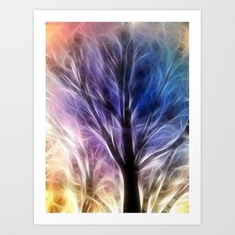 Fractal Rays of a Happy Tree Art Print