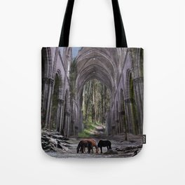 Church in forest Tote Bag